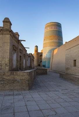 Sunrise in the streets of Khiva.