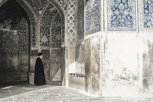 Mullah inside Shah Mosque, Esfahan.