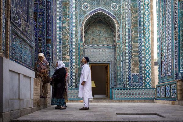 Shah-i-Zinda Necropolis, north-eastern Samarkand.