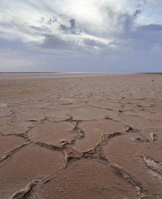 Chott El-Jerid salt lake in Tunisia.