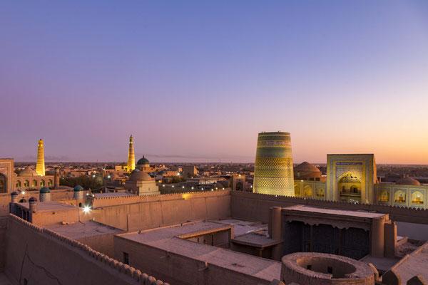 Sunset over Khiva.