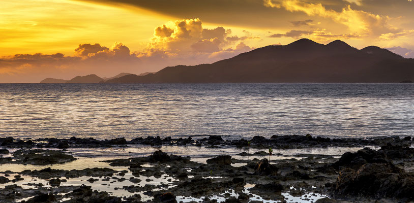 Sunrise in Tapik, Palawan Island, Philippines.
