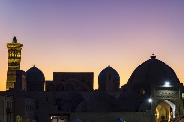 Sunset over Bukhara.