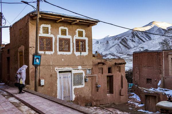 Winter in Abyaneh Village.