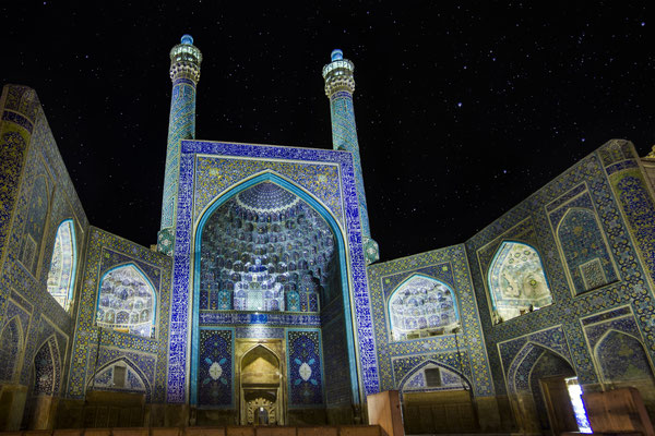 Entrance to Shah Mosque on Naghsh-e Jahan Square, Esfahan.