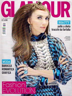 Copertina rivista Glamour AB SUITE