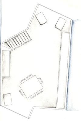 Grundriss 2. OG Aquarell
