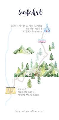 Landkarte und Anfahrt für Hochzeit