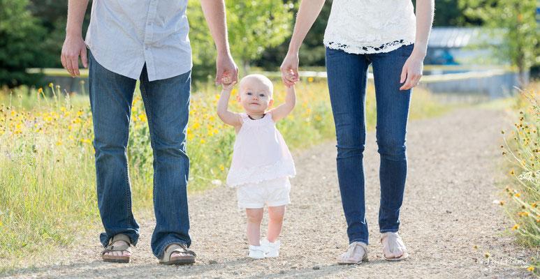 Mama, Papa und das Kleinkind