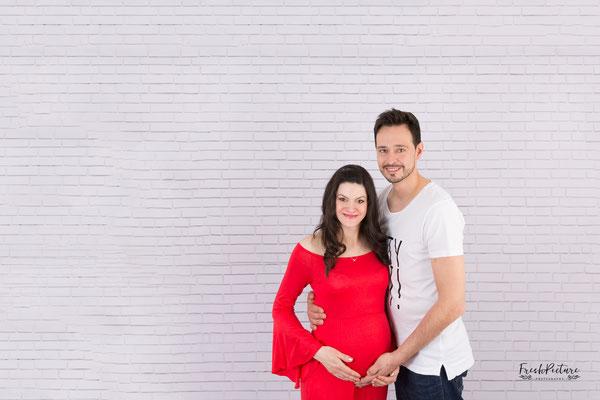 Babybauchfotos mit Mann oder Partner