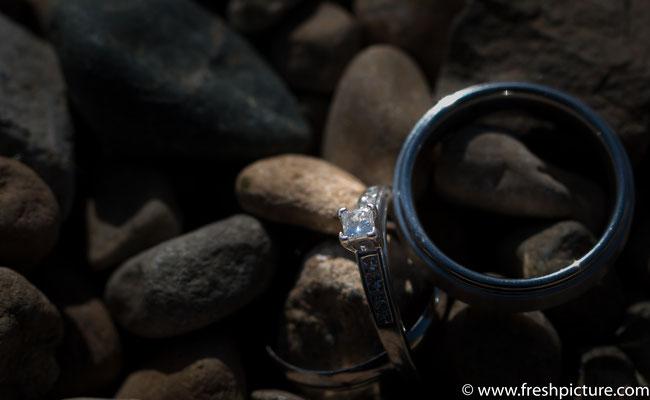 Detailfoto vom Verlobungsring