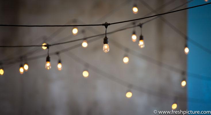 Lichterkette für die Hochzeit