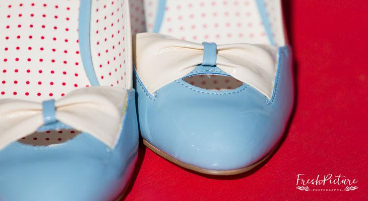 Blue wedding shoes, etwas blaues zur Hochzeit
