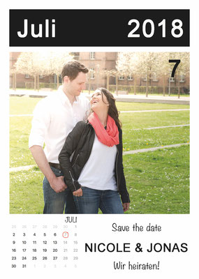 Save the Date Karte mit Verlobung-Foto aus Engagement-Session