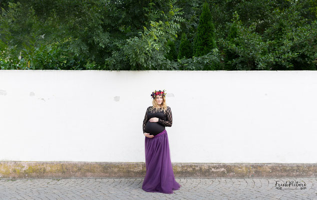 Lila Tüllrock bodenlang