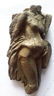 Moederkind - aluminiumcement - 16 x 8 cm