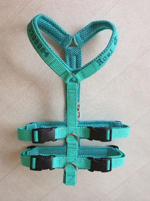Gurtband MInze 2cm, Polster Minze AirMesh