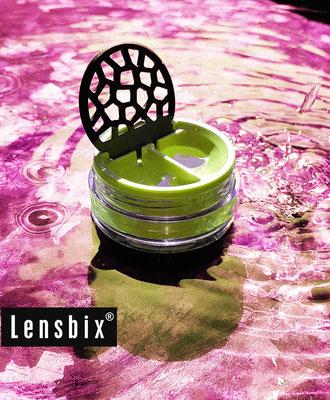 Lensbix moments - frisches Farbenspiel / Kontaktlinsenbehälter / Kontaktlinsenbox / Behälter für  Kontaktlinsenaufbewahrung / Kontaktlinsendose