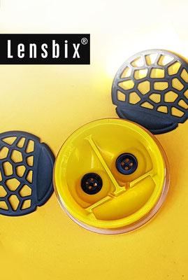 Lensbix  zweimal hinsehen - Mausezahn und Segelohren machen Lust auf lose Kulleraugen / Kontaktlinsenbehälter / Kontaktlinsenbox / Box für Kontaktlinsenaufbewahrung