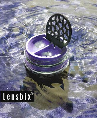 Lensbix moments - Blaue Flut / Kontaktlinsenbehälter / Kontaktlinsenbox / Behälter für  Kontaktlinsenaufbewahrung  / Kontaktlinsen-behaelter.de