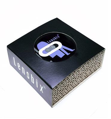 Lensbix blau  / #Kontaktlinsenbehälter / #Kontaktlinsenbox / #Box für Kontaktlinsenaufbewahrung  / in Geschenkverpackung