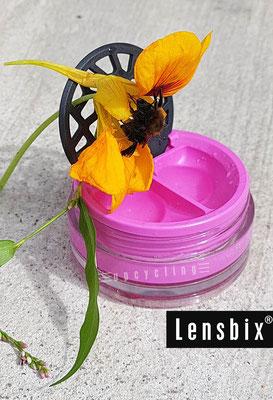 Lensbix upcycling -  Süßes geschleckt - Süßes endeckt  / Kontaktlinsenbehälter / Kontaktlinsenbox / Box für Kontaktlinsenaufbewahrung  / Kontaktlinsendose / #Kontaktlinsen-behaelter