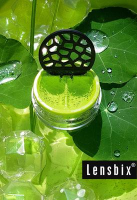 Lensbix moments - Frische Tropfen auf jedem Blatt und in der Kontaktlinsendose/ Kontaktlinsenbehälter / Kontaktlinsenbox / Behälter für Kontaktlinsenaufbewahrung