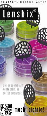 Colorkolletion / Markenartikel Lensbix / Kontaktlinsenbehälter / Kontaktlinsenbox /Behälter für Kontaktlinsen / Farbkollektion / Deutschland