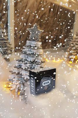 Lensbix Kontaktlinsenbehälter Aktuelles Weihnachten Schneelandschaft