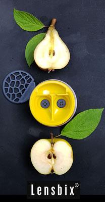 Lensbix  zweimal hinsehen - die Schönheit der Natur bewußt imitiert! / Kontaktlinsenbehälter / Kontaktlinsenbox / Box für Kontaktlinsenaufbewahrung
