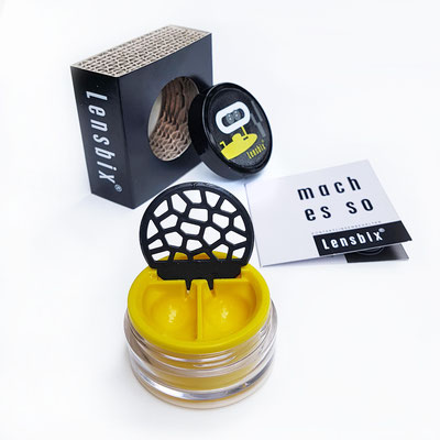 Lensbix s e n f g e l b  / #Kontaktlinsenbehälter / #Kontaktlinsenbox / #Box für  Kontaktlinsenaufbewahrung   / Geschenk ausgepackt