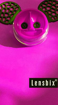 Lensbix  zweimal hinsehen - aus die graue Maus! / Kontaktlinsenbehälter / Kontaktlinsenbox / Box für Kontaktlinsenaufbewahrung