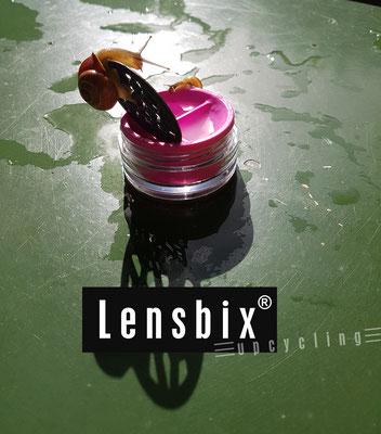 Lensbix upcycling -  Vergnügen bis zum Sonnenuntergang  / Kontaktlinsenbehälter / Kontaktlinsenbox / Box für Kontaktlinsenaufbewahrung  / Kontaktlinsendose / #Kontaktlinsen-behaelter