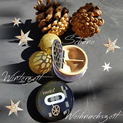 Natur Weihnachten mit cappuccino Lensbix Kontaktlinsenbehälter Aktuell