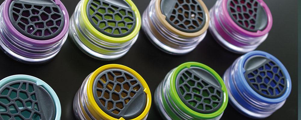 Lensbix - Farbkollektion - Dose  Klappdeckel geschlossen / #Kontaktlinsenbehälter / #Kontaktlinsenbox / Box für  Kontaktlinsenaufbewahrung