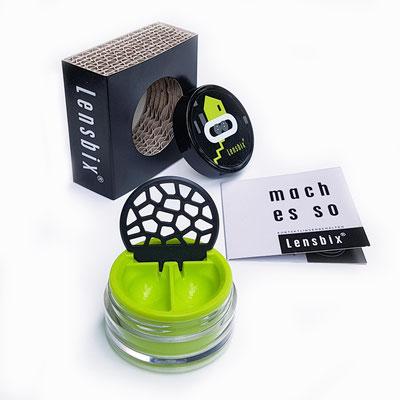 Lensbix kiwi Geschenkidee Set Box schwarz Man box  Boss Sport Home Spar Family Natur nachhaltig cool  Überraschung Jahrestag Präsent  Haus Reise Interior Accessoire Style Designprodukt Wellnessoase Utensilien Neon Farbe Color
