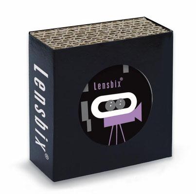 lila  Kontaktlinsen behälter-box Lila Cinema  ein muß für coole Linsenträger Diven mit einem fable für purple-Movie-Star Hollywood Film Camera. Ob Zuhause oder im Rampenlicht. Das kreative Drogerie-Geschenk rund um die Kultur