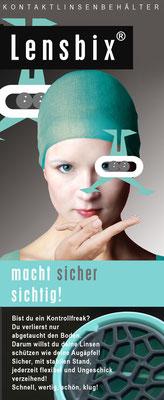 Lensbix character -  türkis / Marke  Lensbix / Kontaktlinsenbehälter / Kontaktlinsenbox / Behälter für deine Kontaktlinsen