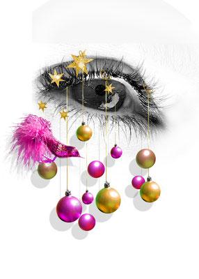 Lensbix Kontaktlinsenbehälter Aktuelles Weihnachten-Auge