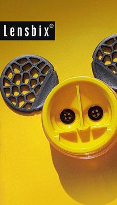 Lensbix  zweimal hinsehen - halt mich sauber, sonst zeig ich dir die Zähne! / Kontaktlinsenbehälter / Kontaktlinsenbox / Box für Kontaktlinsenaufbewahrung