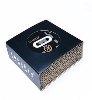 Lensbix cappuccino  / #Kontaktlinsenbehälter / #Kontaktlinsenbox / #Box für Kontaktlinsenaufbewahrung  / in Geschenkverpackung