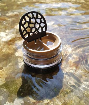 Lensbix moments - Cappuccino ohne Milch und nur fürd Auge / Kontaktlinsenbehälter / Kontaktlinsenbox / Behälter für  Kontaktlinsenaufbewahrung / Kontaktlinsendose