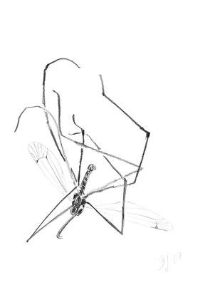 Schneider,Bleistift auf Papier