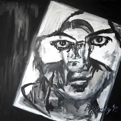 Er in mir , Öl auf Leinwand , 100 cm x 100cm, 2015