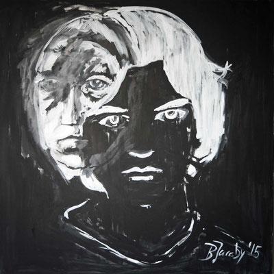 Er durch mich , Öl auf Leinwand , 100 cm x 100cm, 2015