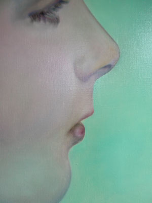 GIRL IN A MOMENT Detail· 2019 · oil on canvas 120x100cm