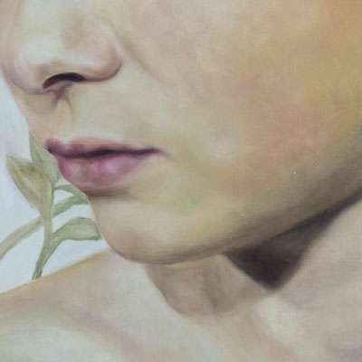 AFTER BATH Detail· 2019 · oil on canvas 160x120cm