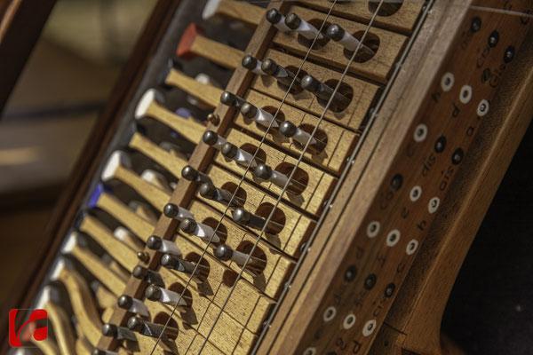 Mittelalterfest Zug 2019, Nyckelharpa, Godefroy Brabant — Musikinstrumentenbauer