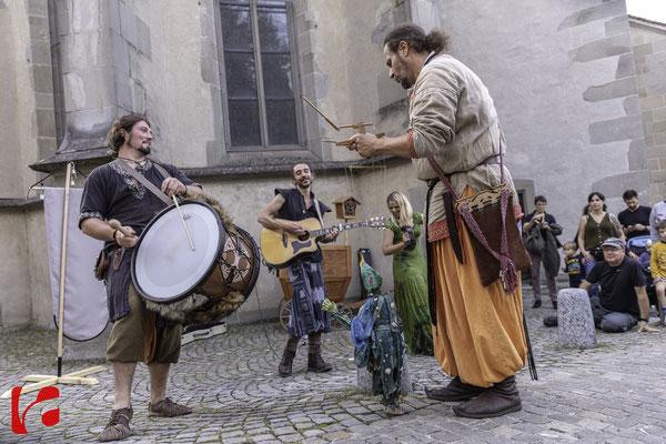 Mittelalterfest Zug 2019, Andreas Kingl (Die Fadenwerkstatt) & Meril