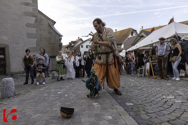 Mittelalterfest Zug 2019, begeistertes Publikum